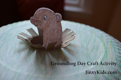 groundhog hog day paper roll kids activity