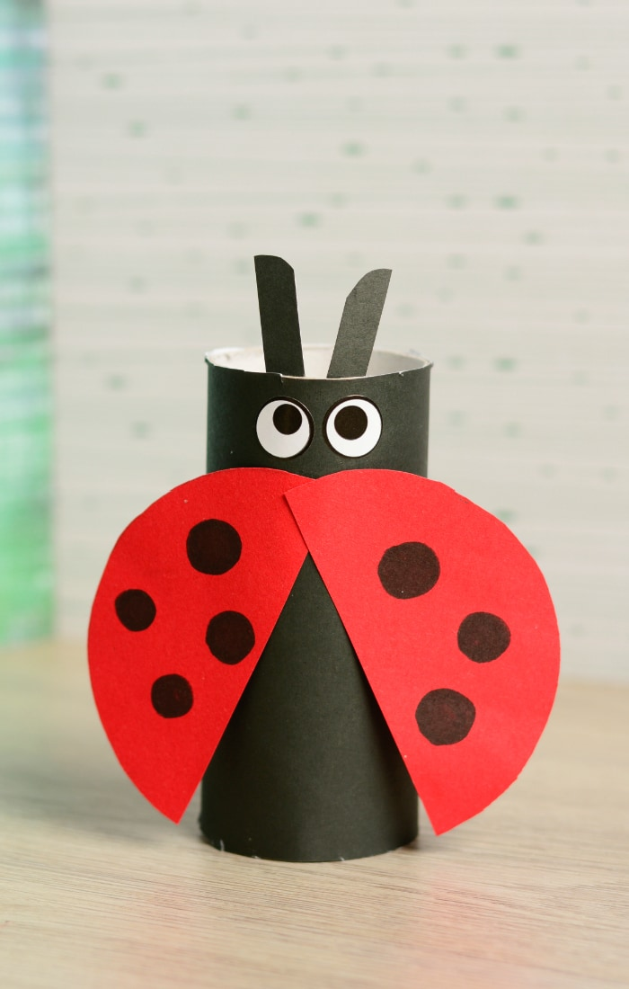 lady bug toilet paper craft