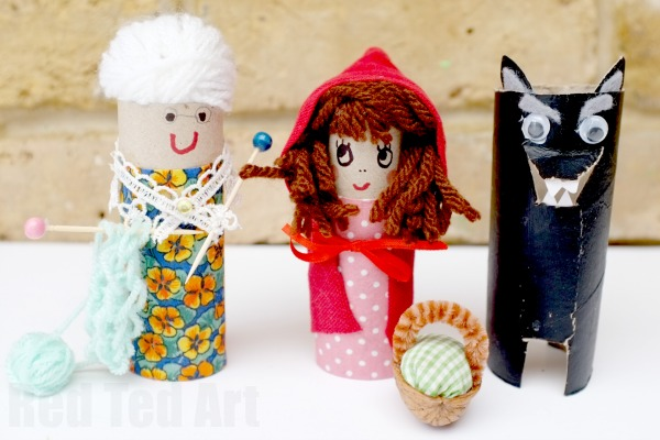 little red riding hood toilet paper roll craft