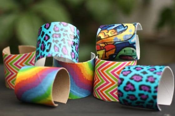 paper roll bracelets