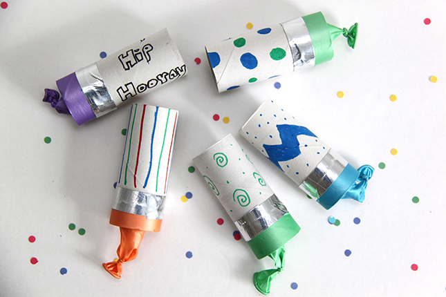 paper roll confetti poppers