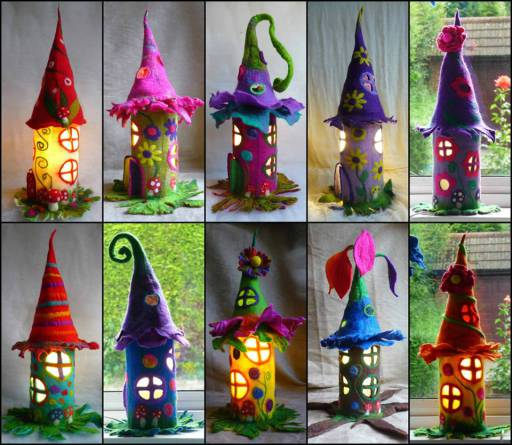 paper roll fairy houses crafts