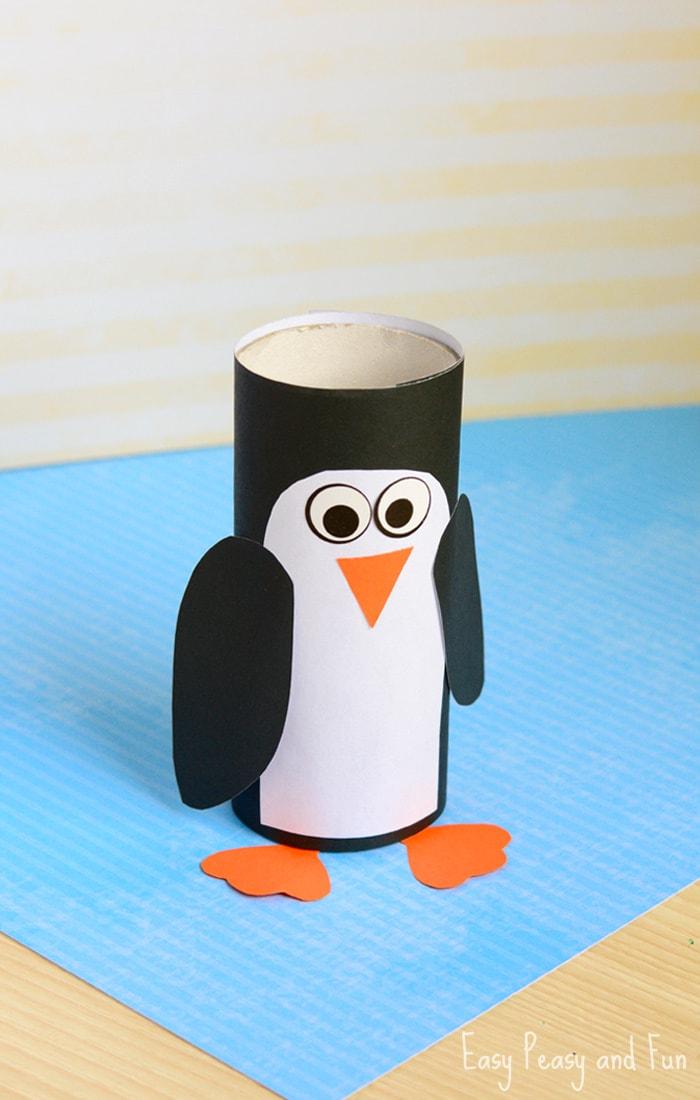 paper roll penguin
