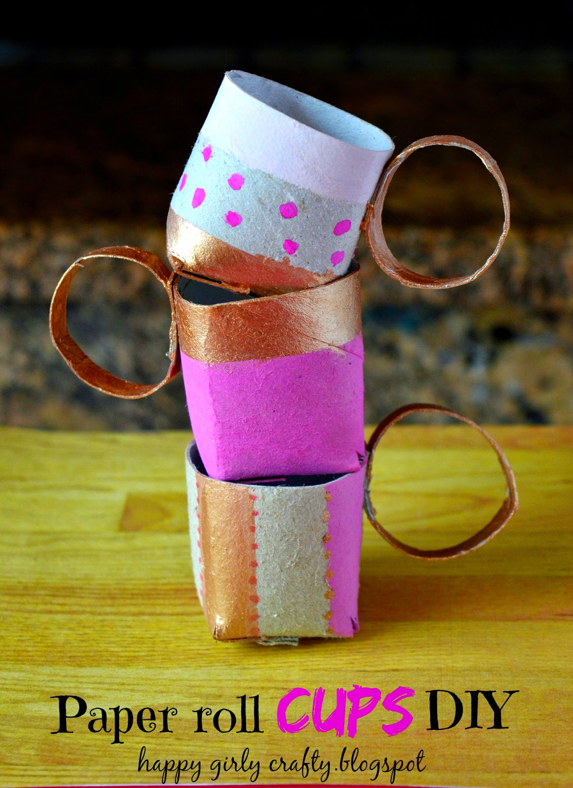 paper roll tea cups