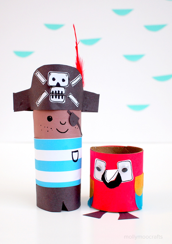 pirate toilet paper craft