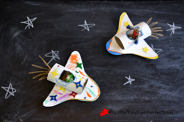 space shuttle paper roll craft