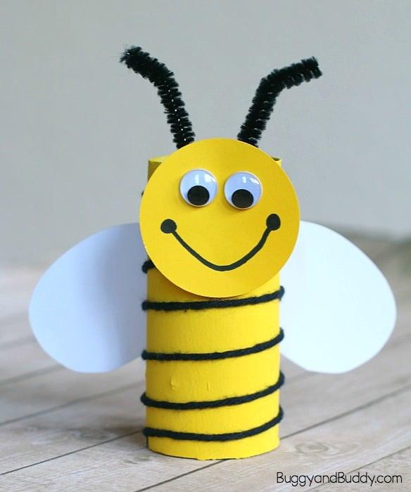 toilet paper bee craft