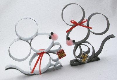 toilet paper mice