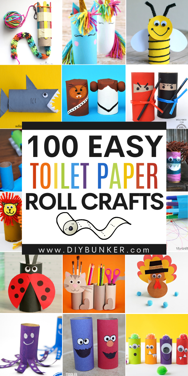 100 Toilet Paper Roll Crafts for Kids
