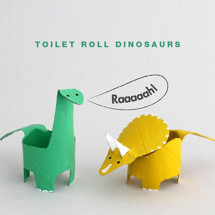 toilet paper roll dinosaur crafts