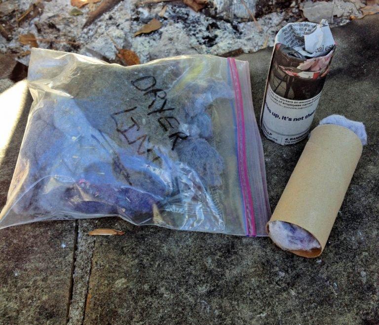 toilet paper roll fire starter