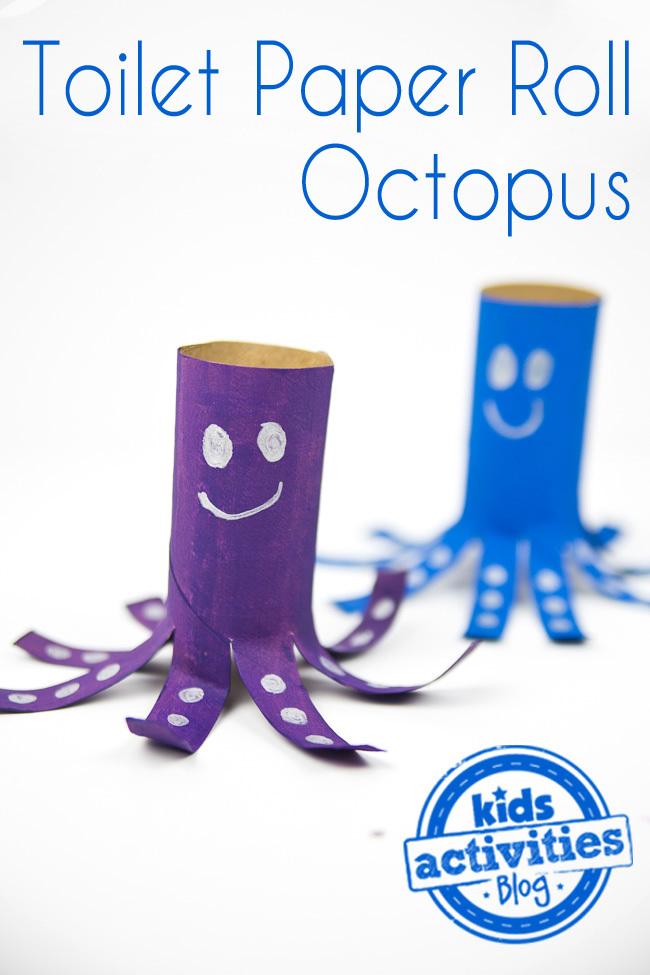 toilet paper roll octopus craft