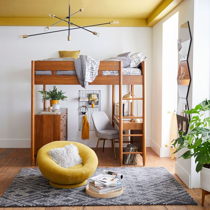 West Elm Mid-Century Loft Bed - Acorn