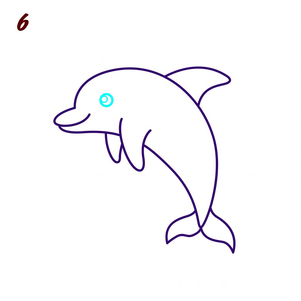 How to Draw a Dolphin: Easy Step-by-Step Dolphin Drawing [With Video]
